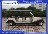 Coffee White Colour Electric Vintage Cars 4 Rows For Wedding Place 25% Climbing Ability