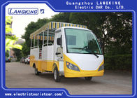 Yellow - White 15 Seater Electric Shuttle Car For School 38km/H Max Speed