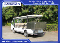 14 Seater Electric Sightseeing Bus , 72v Electric Shuttle Car with Fencing Cargo Box
