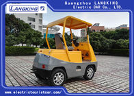 5 Ton 1 Seats With Roof Electric Towing Tractor For Factory 48v / 3kw Motor