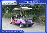 Sponge + Artificial Leather Seats Electric Golf Carts / 4 Passenger Golf Cart With Roof