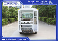 Low Speed 48V 5KW Electric Ambulance Car / Mini 4+1 Bed Seats Electric Shuttle Bus