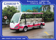 Red / White 11 Passenger 72V 7.5KW Electric Tour Bus For Residential Community