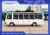 Four Wheels Electric Shuttle Bus 23 Seats With Door / Electric Mini Bus AC Motor