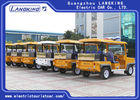 5 Seater Electric Patrol Car , Electric Powered Utility Carts With Big Light On Roof