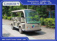 4 Wheel Electric Shuttle Car , 8 Seats Electric Passenger Vehicle With Sun Curtain 4KW DC Motor