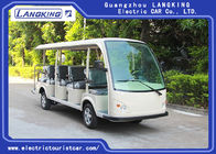 Low Speed 72V 5.5KW Mini Electric Sightseeing Car / 14 Seats Electric Shuttle Bus