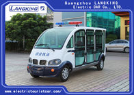 Closed door 6 seats Electric Patrol Car 18% Climbing Ability Load  48V/4KW DO MOTOR electric car