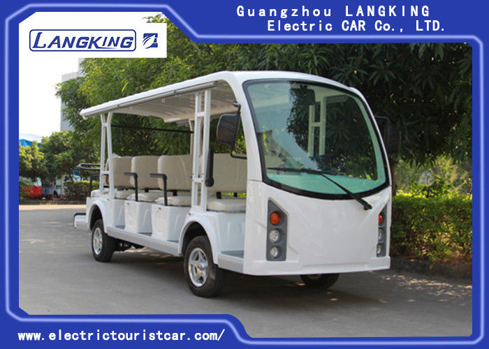 Battery Operated 4 Wheel Electric Shuttle Bus 48V Motor Suits For Transportation