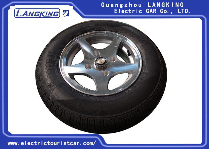 Aluminum Golf Cart Rims And Tires , Club Car Golf Buggy Parts Standard Size